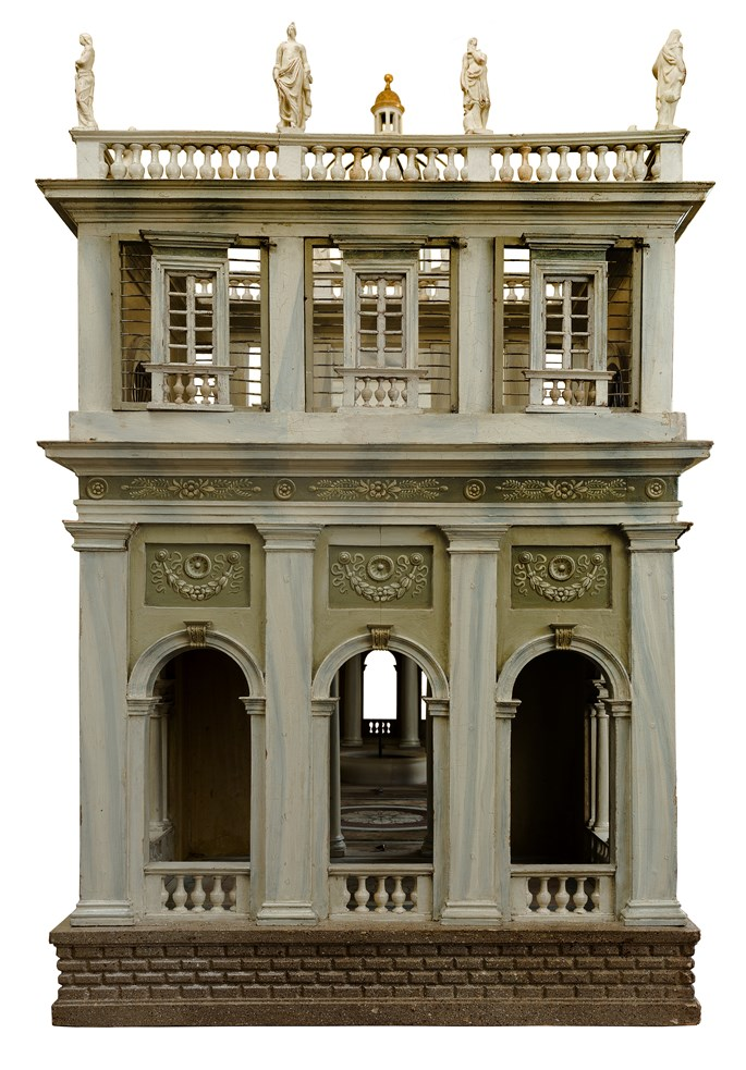 A NORTH ITALIAN PAINTED ARCHITECTURAL MODEL, EXECUTED IN THREE PARTS FITTED TOGETHER TO FORM A GARDEN PAVILION, follower of Leopold Pollack | MasterArt