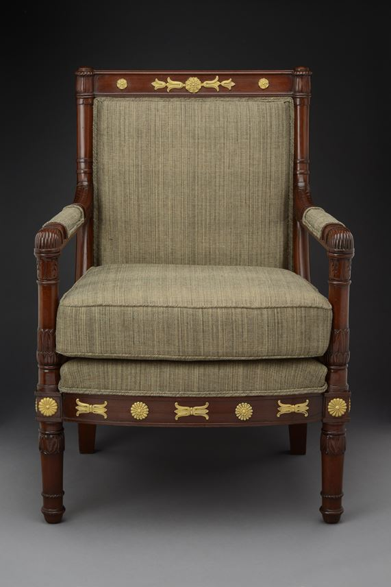 Francois Honore' Georges Jacob  Desmalter - An Empire ormolu mounted mahogany armchair | MasterArt