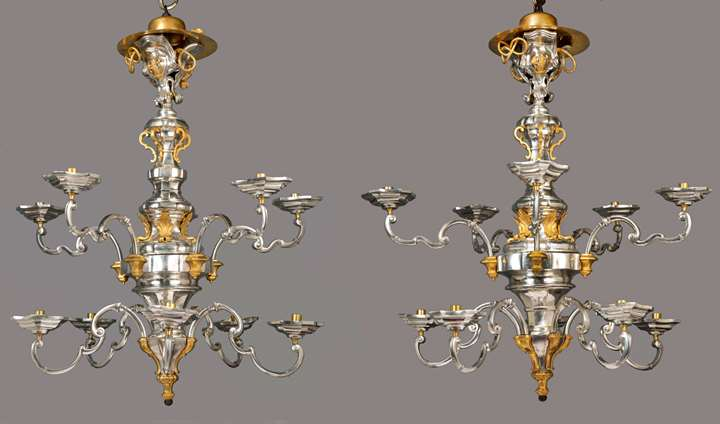 The Marcello Papiniano cusani silver chandeliers