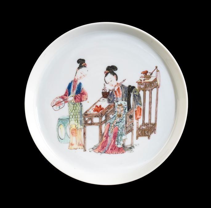 Chinese porcelain famille rose saucer | MasterArt