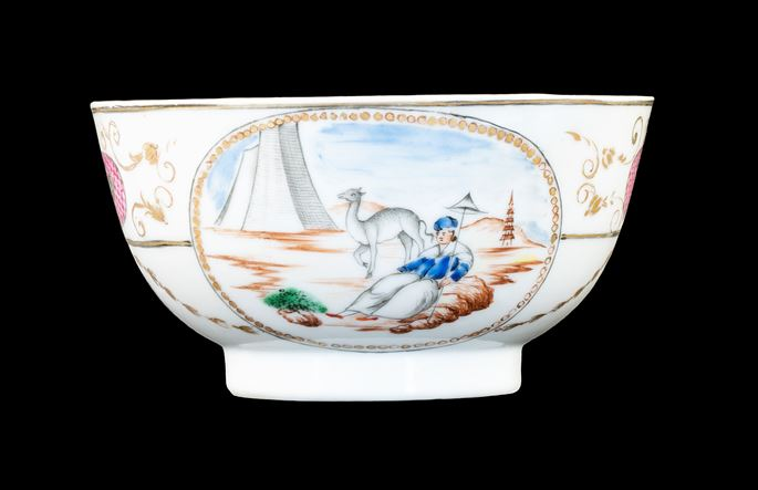 GG: Chinese armoral porcelain small bowl, arms of Ker with Martin in pretence | MasterArt