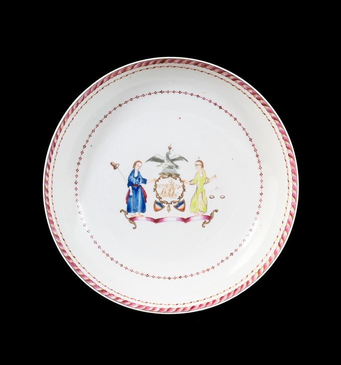 GG: Chinese export armorial porcelain saucerdish, arms of New York | MasterArt