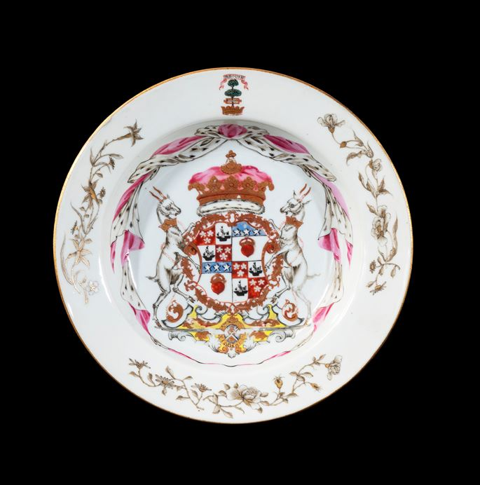 GG: Chinese export armorial porcelain soup plate, arms of the Duke of Hamilton | MasterArt