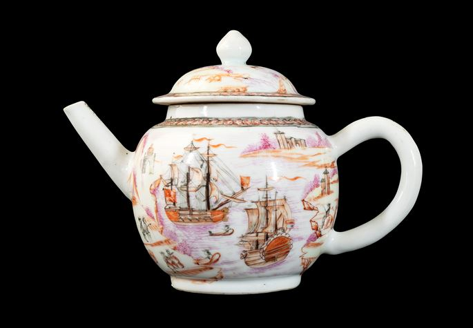 GG: Chinese export porcelain European subject teapot and cover | MasterArt