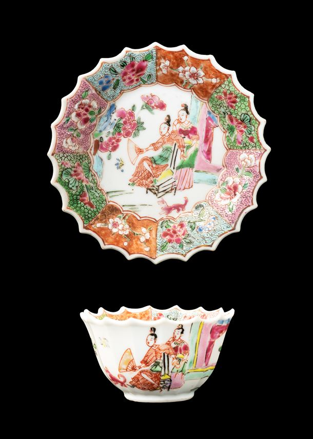 GG: Chinese porcelain famille rose teabowl and saucer | MasterArt