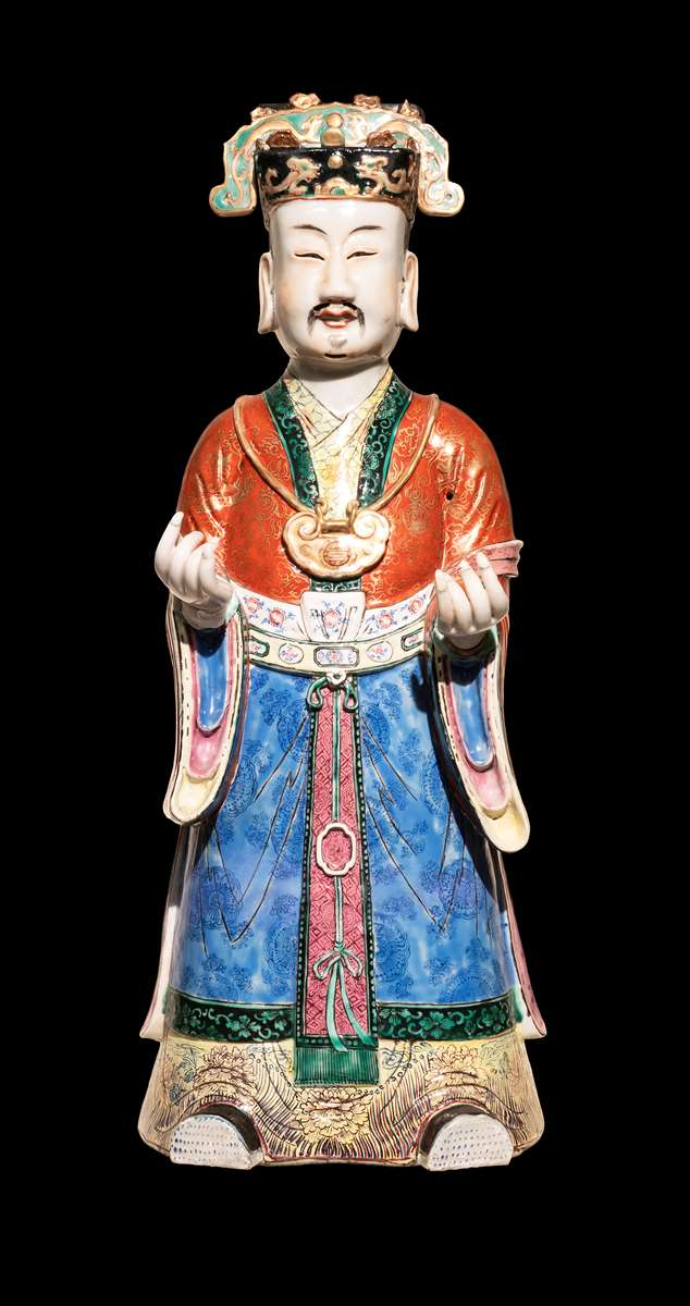 Large Chinese porcelain figure of a sage or court official