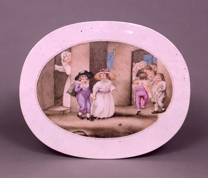 PAIR OF chinese export porcelain EUROPEAN SUBJECT PLAQUES | MasterArt
