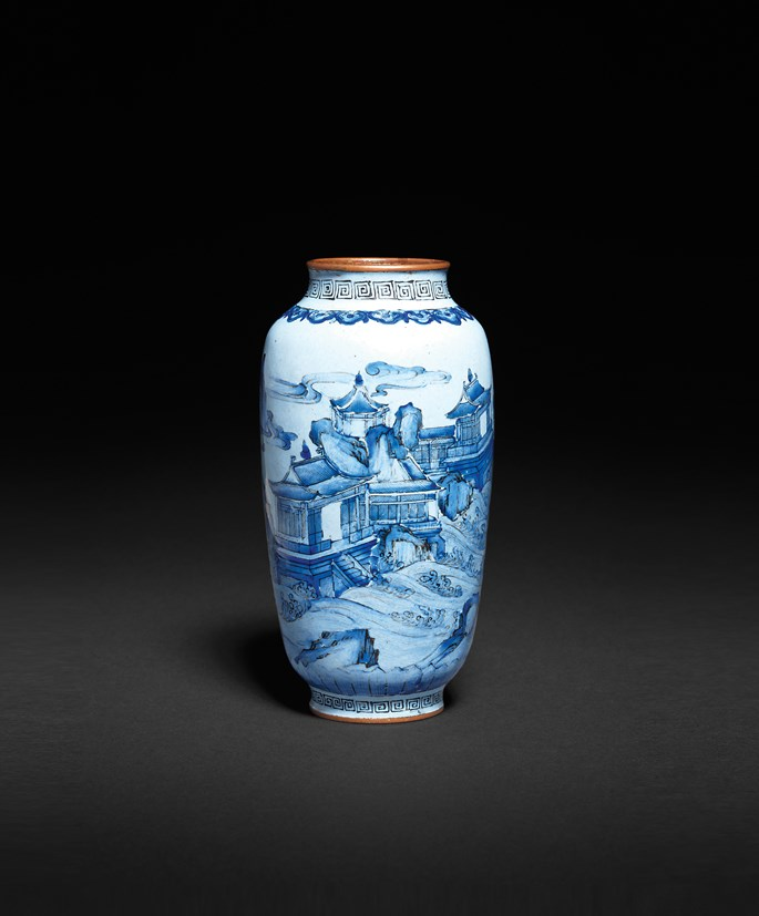 Chinese painted enamel on copper small vase, qianlong mark and of the period | MasterArt