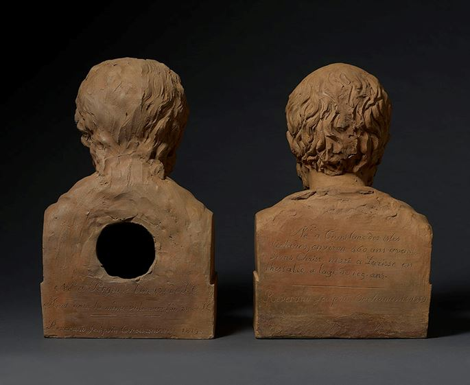 A pair of terracotta busts of Galen and Hippocrates | MasterArt