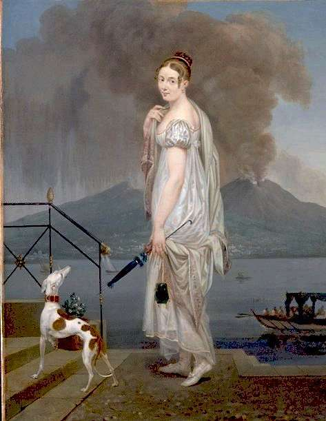 A Young Lady before Vesuvius