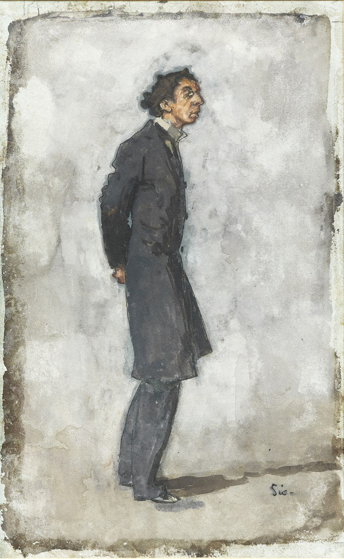 Walter Richard SICKERT - A child of the Ghetto, Mr Israel Zangwill | MasterArt