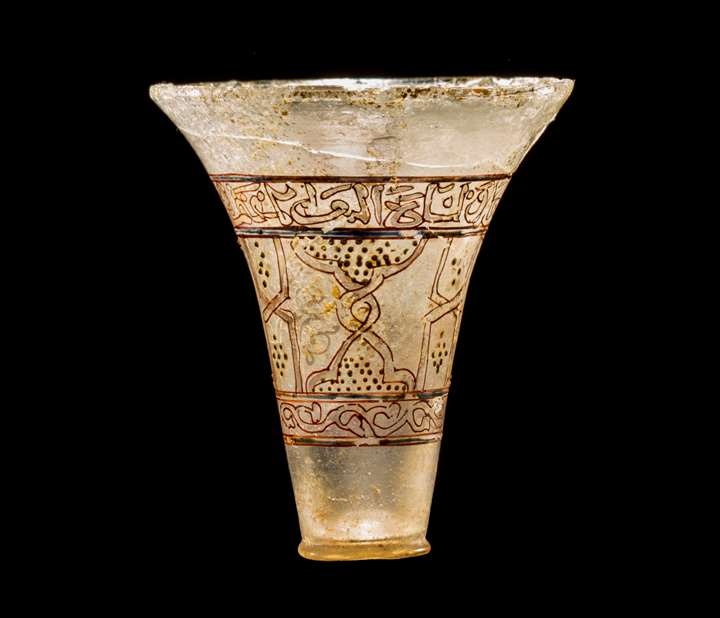 Enamelled Mamluk Glass Beaker