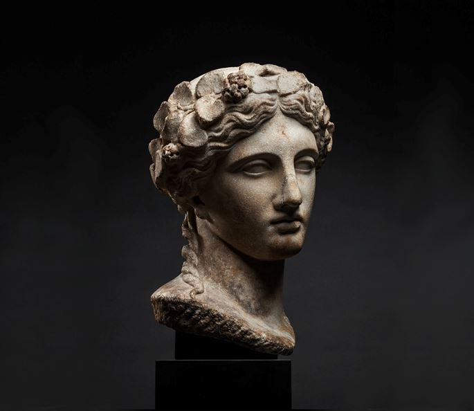 Head of Dionysus Crowned with Ivy Wreath | MasterArt