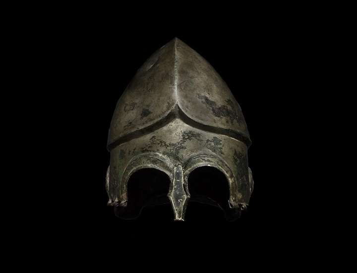 Highly Tinned Chalcidian Helmet