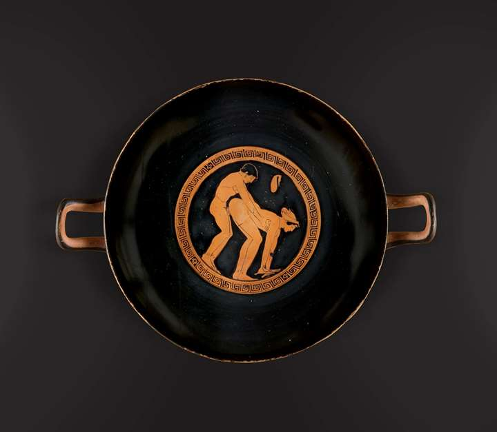 Kylix Depicting an Erotic Scene