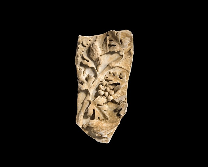 Relief decorated by vegetal motifs and two birds | MasterArt