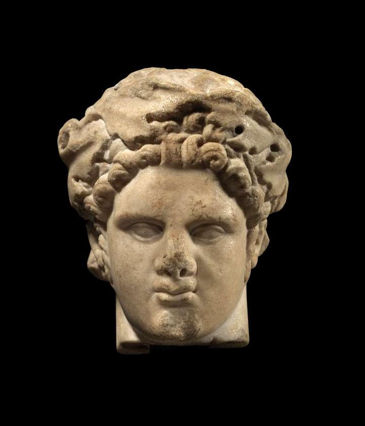 Roman head depicting the god Herakles