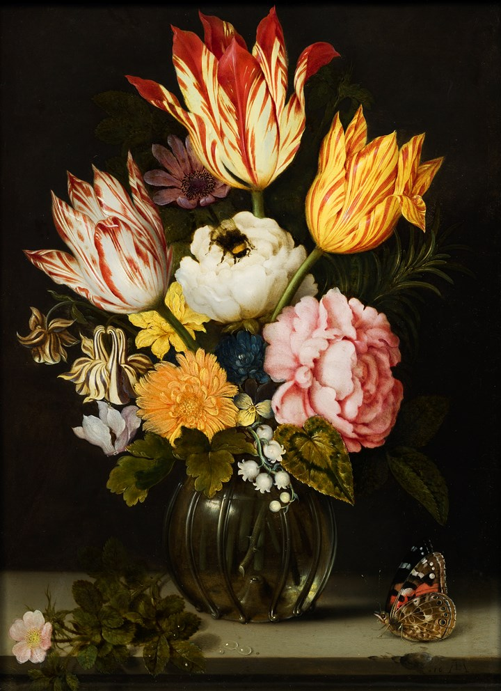 Still-life of Flowers in a vase.