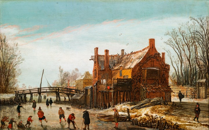 Winter Landscape with Skaters.