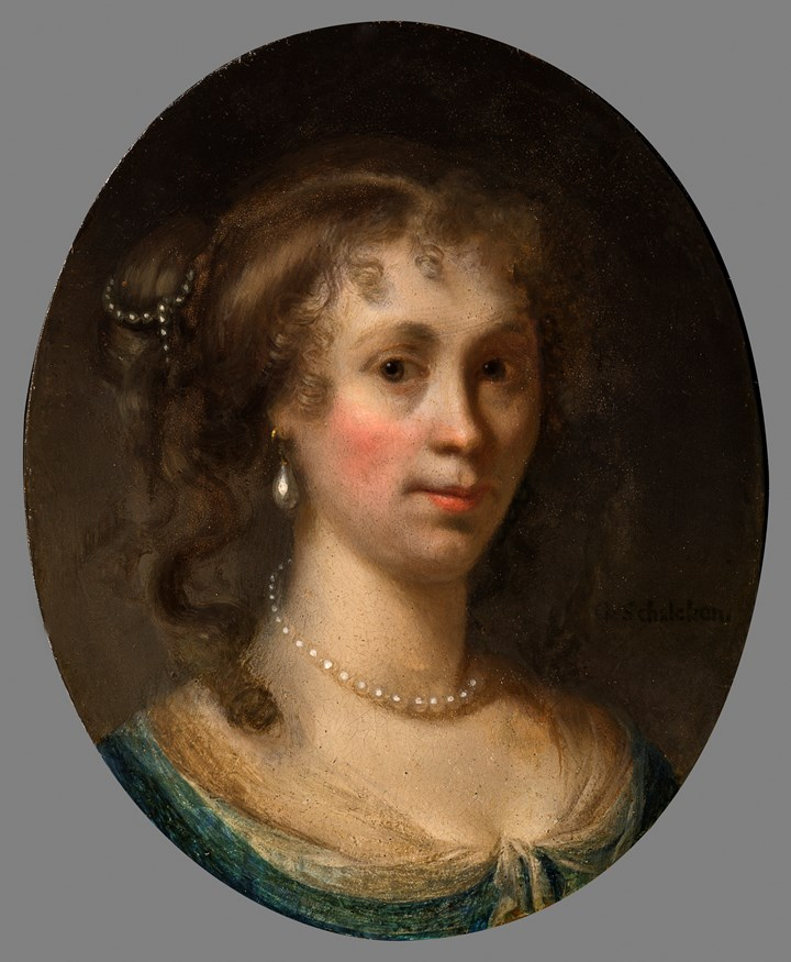 Portrait of a Lady, bust length, probably Portrait of Amalia Strick van Linschoten
