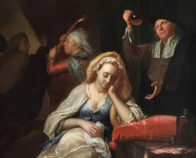 Godfried Schalcken - The Doctor's Visit.  | MasterArt