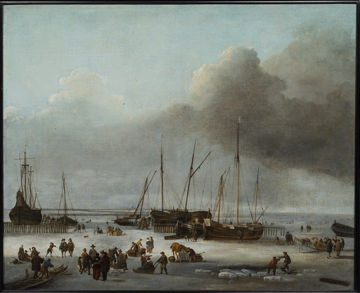 Winter Amusement on the west dock of Amsterdam