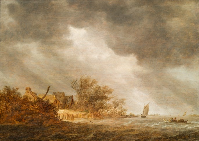 Jan van Goyen - Open Water by stormy Weather.  | MasterArt