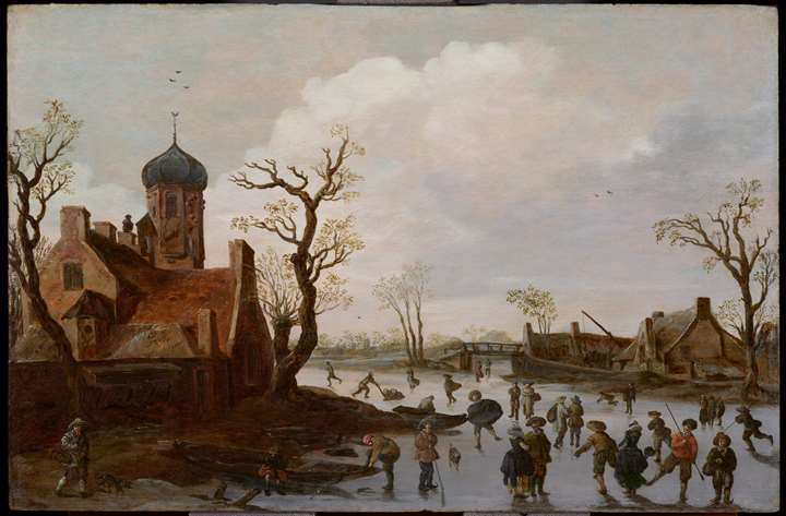 Winter Landscape with Skaters