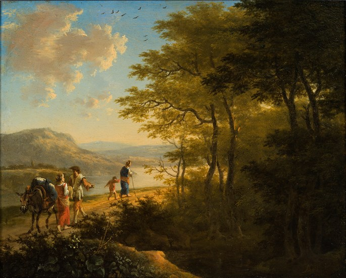 Jan Both - Landscape with Travellers.  | MasterArt