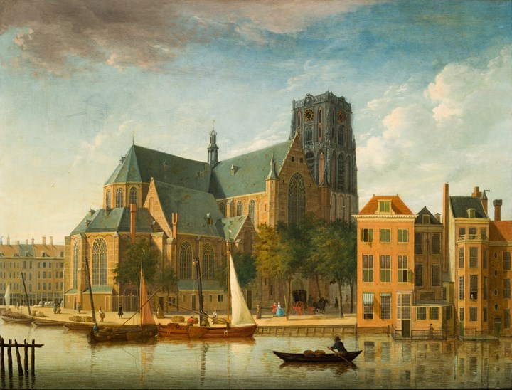 A view of the Sint-Laurenskerk, Rotterdam, from the Northeast.