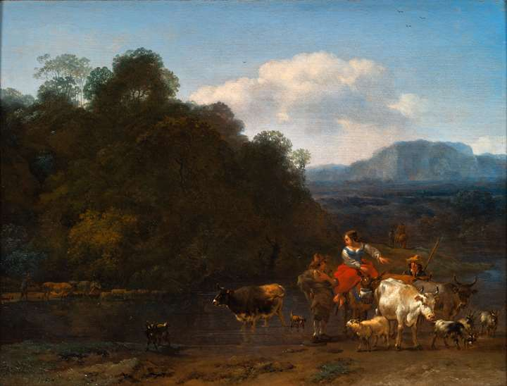 Landscape with Farmers and Cattle.