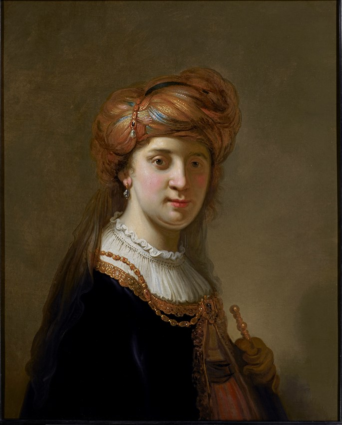 Govaert Flinck - Portrait of a Lady in a turban, half-length | MasterArt