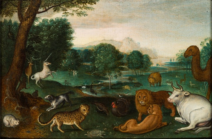 Paradise Landscape with Adam and Eve.