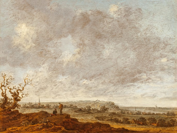 Wouter Knijff - Panoramic view on the Elterberg with an Abbey and the Rhine from the northwest Heights.  | MasterArt