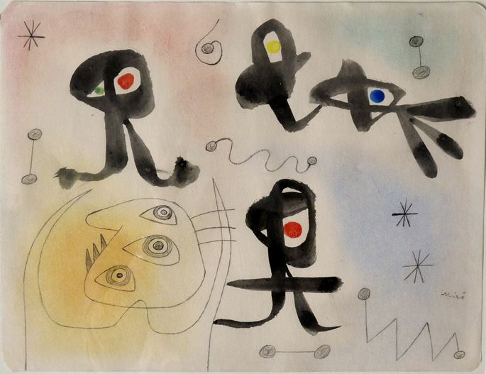 Joan MIRÓ - Composition | MasterArt