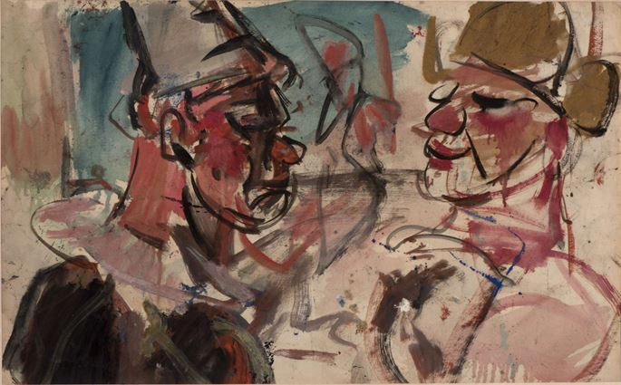 Georges ROUAULT - Two Clowns face to face, Sketch for The parade | MasterArt