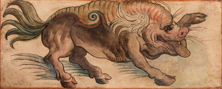 Fantastical animal, probably a Leucrota