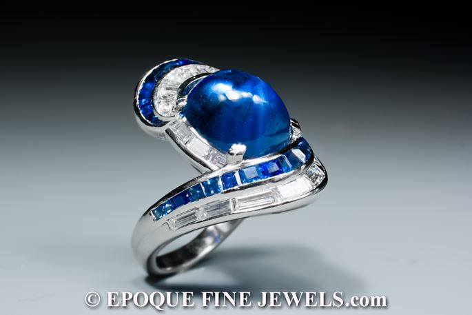 A late 1930's sapphire and diamond ring | MasterArt
