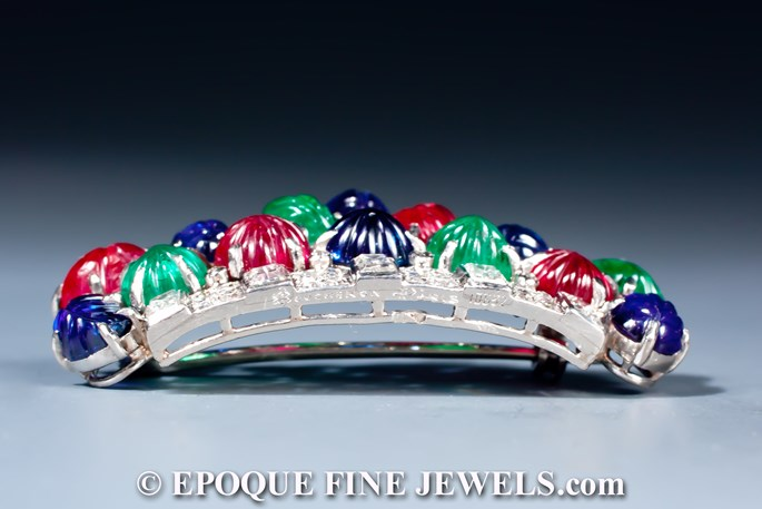 Boucheron - A magnificent Art Deco tutti frutti basket brooch | MasterArt