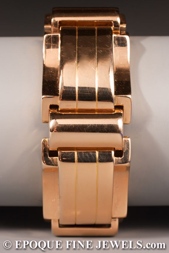 A stylish Retro gold tank bracelet,  | MasterArt