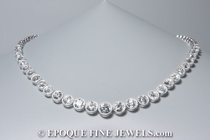 An Art Deco diamond necklace | MasterArt