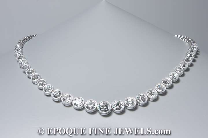 An Art Deco diamond necklace