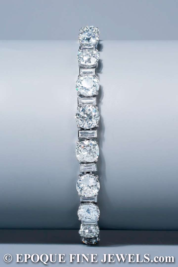 An Art Deco diamond rivière bracelet