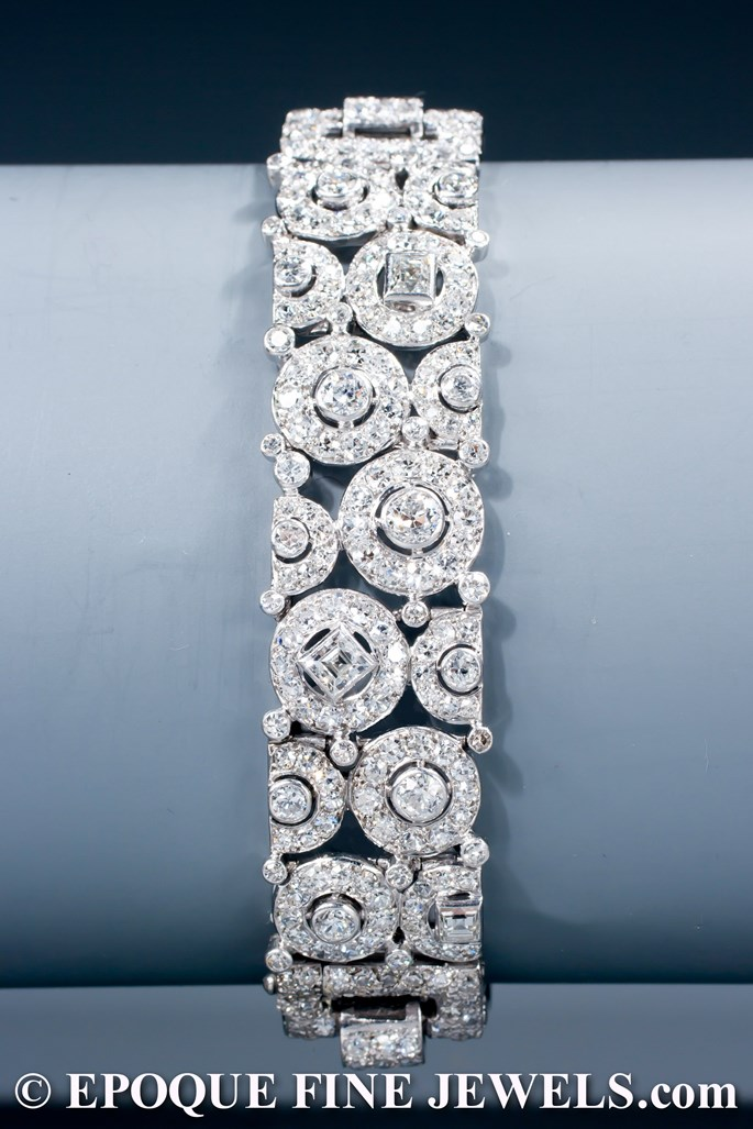 Cartier - A magnificent Art Deco diamond bracelet | MasterArt