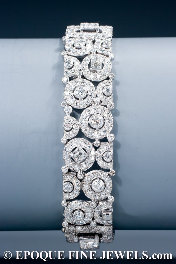 A magnificent Art Deco diamond bracelet