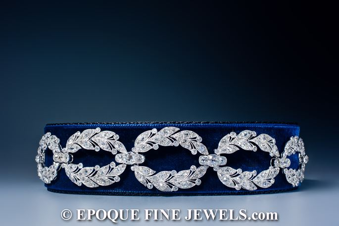 Cartier - An exquisite Garland Style diamond choker, | MasterArt