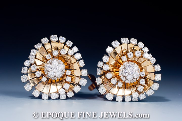 A gorgeous pair of diamond tourbillon earrings,