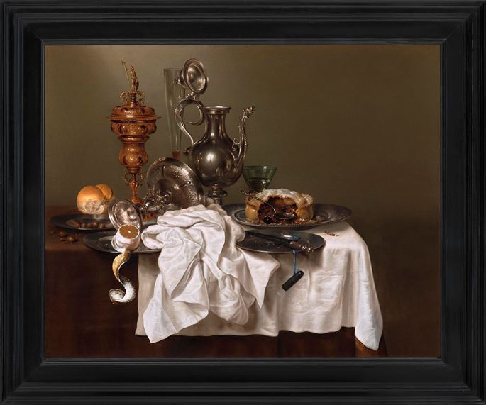 Willem Heda  - Still Life with a Blackberry Pie | MasterArt
