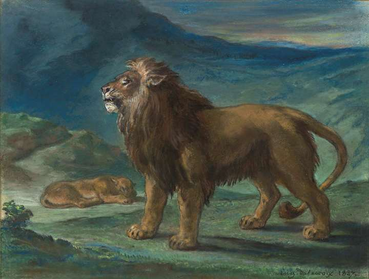 Lion and Lioness in the Mountains (Lion et lionne dans les montagnes)
