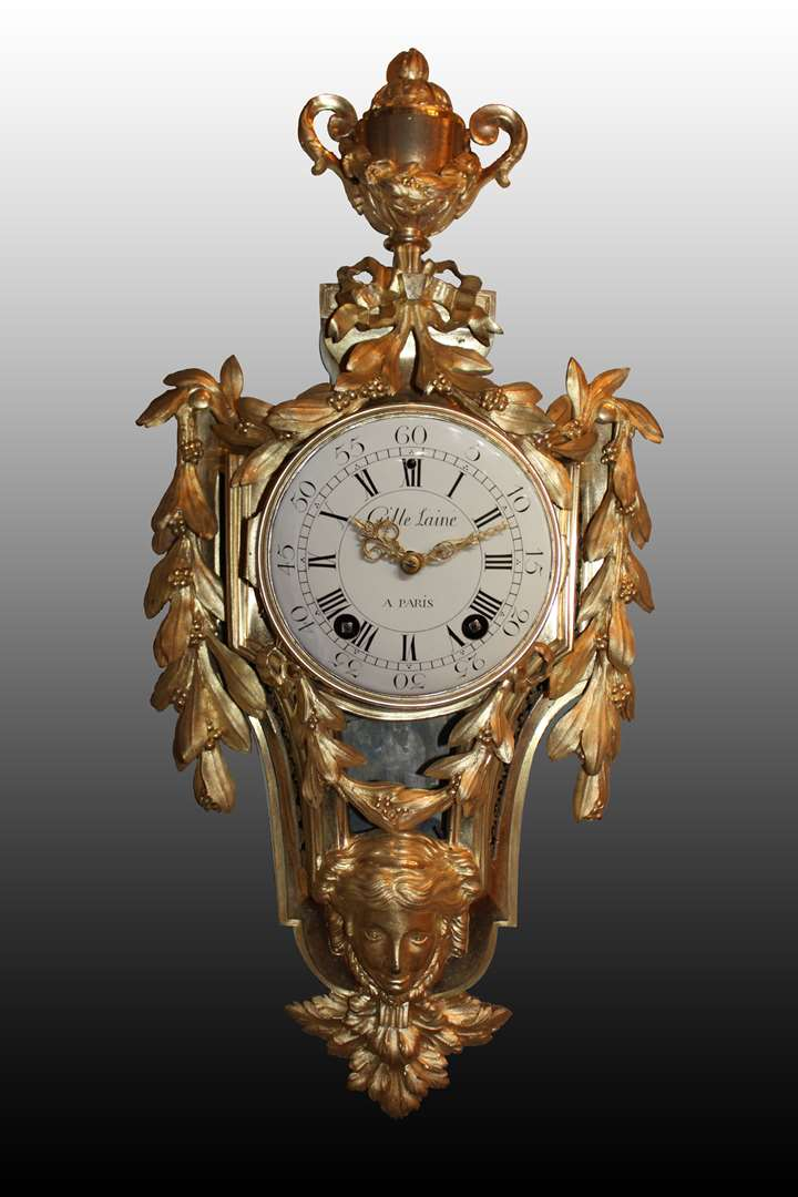 A Louis XVI Cartel clock by Lainé à Paris
